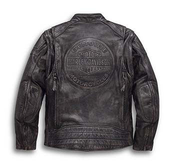 Men's Dauntless Convertible Leather Jacket (Back )