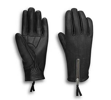 Women's Writ Perforated Leather Gloves