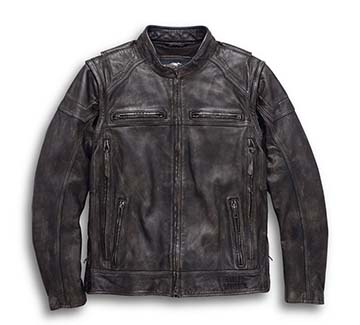 Men's Dauntless Convertible Leather Jacket (Front)