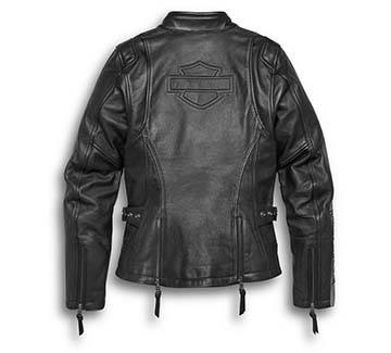 Women's Writ Leather Jacket (Back)