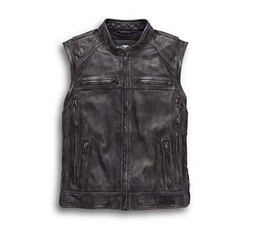 Men's Dauntless Convertible Leather Jacket (Vest)