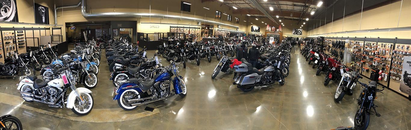 Photo of Livermore Harley-Davidson's showroom floor